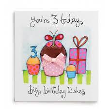 3 big birthday wishes handmade girls 3rd birthday card 2 60 a
