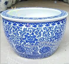 Decorative Indoor Planters Ceramic Indoor Planters Australia Large Chinese Hand Painted Lotus