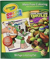 crayola color coloring pad teenage mutant ninja turtles