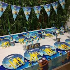 minions party supplies 62pcs minions party supplies plate cup flags tablecloth straw minion