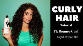 light gel for curly hair bounce curl