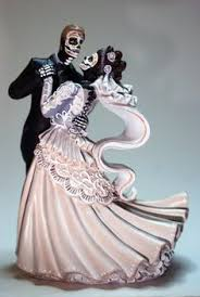 day of the dead wedding cake topper large day of the dead and groom cake topper dead