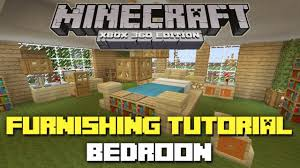 minecraft xbox 360 house furnishing tutorial bedroom youtube