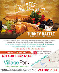 turkey raffle event park family dental