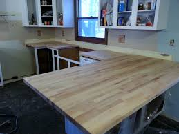 staining my beech ikea butcher block counters we own blackacre checking the fit we now have a much larger peninsula