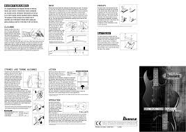 download free pdf for ibanez sr series sr505 guitar manual
