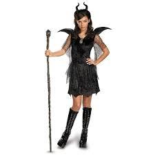buy maleficent deluxe tween teen black dress and headpiece