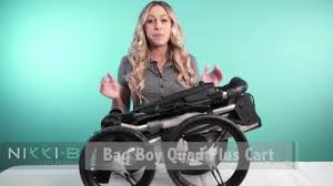 bag boy quad plus push cart nikki b golf reviews youtube