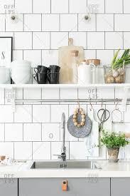 Shelf Above Kitchen Sink by Kitchen Sink Stock Photos Offset
