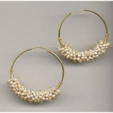 hoops earrings india pearl hoop earrings silver wind maximal online tiques