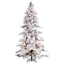 sterling 7 5 ft pre lit heavy flocked white spruce artificial