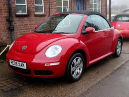 2008 volkswagen beetle 1 6 luna convertible in bright red 41k fsh