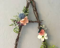 twig wall letters etsy