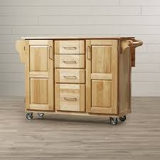 kitchen island with wood top laurel foundry modern farmhouse kennedy kitchen island with wood