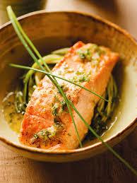 cuisiner pavé de saumon au four filets de saumon au four avec vinaigrette au gingembre châtelaine