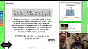 color blind test jumpscare youtube