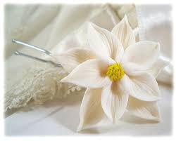 white poinsettia white poinsettia hair pins hair