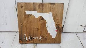 florida wood home sign florida home sign rustic wood sign custom