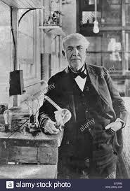 thomas edison light bulb invention thomas edison alva inventor lightbulb camera phonograph stock photo