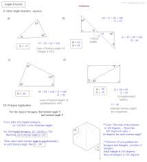 math plane angles and triangles exercise