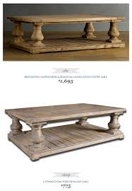 Balustrade Coffee Table Restoration Hardware Balustrade Salvaged Wood Coffee Table Wood