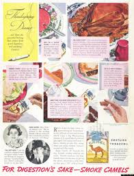 vintage camel cigarettes thanksgiving ad suggests after
