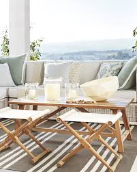 crosby teak coffee table serena u0026 lily