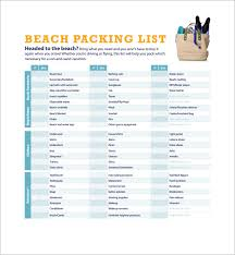 sample vacation checklist 7 documents in pdf psd