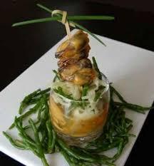 cuisiner salicorne recette moules au safran en aspic salade croquante de fenouil et