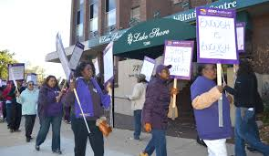 Home Quality Care by Thousands Of Nursing Home Workers Launch Simultaneous Pickets At