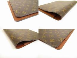 Desk Agenda Louis Vuitton Monogram Brown Leather Desk Agenda Coover A5 6208
