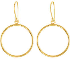 gold dangle earrings hoop dangle earrings 14k yellow gold