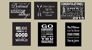 graduation signs graduation party decor inspirational quote set of 6 wood signs