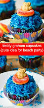 teddy graham cupcakes with blue water u0026 life preserver candy