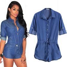 Cheap Summer Clothes For Women Jeans Jumpsuit Romper Good Quality Fashion Women Short Bodycon
