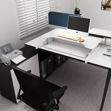 Sit Stand Office Desk by Standard Plus Sit Stand Height Adjustable Standing Desk White