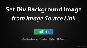 div background url set div background image from image src link with jquery