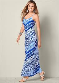 tribal dress blue multi tribal print maxi dress from venus