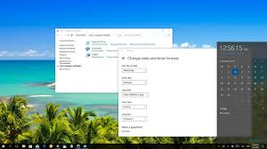 how to change the day of the week in windows 10 s calendar
