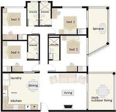 floor plans for a 4 bedroom house 4 bedroom house designs astounding 3 bedroom house plans 3d design