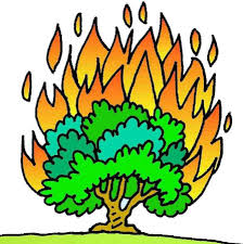 free clipart image moses and the burning bush clip art library