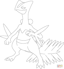 sceptile pokemon coloring page free printable coloring pages