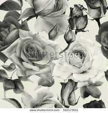 seamless pattern sketched roses stock illustration 343821650