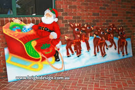 Cheap Outdoor Christmas Decorations Australia by Bright Design Section 01 Santa Sleigh Outdoor Christmas Displays