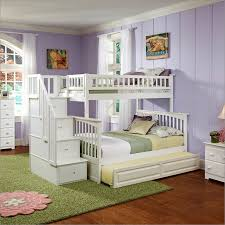 Bunk Bed With Trundle Columbia Staircase Bunk Bed Twin Over Full With Raised Panel
