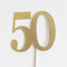 50th cake topper gold glitter 50 cake topper 50th wedding anniversary
