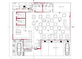 restaurant hotel roof top hotel 2d dwg plan for autocad designscad additional screenshots