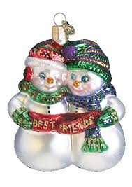 world ornaments best friends glass ornament 24008