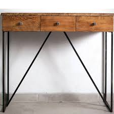 industrial console table with drawers industrial style console table gorgeous three drawers handmade steel