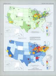 Primary Map United States Primary Metal Industries Map 1970 Full Size